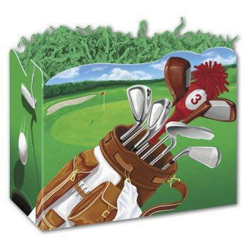 Golf Scene Gift Basket Boxes, 6 3/4 x 4 x 5