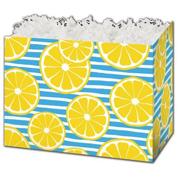"Lemons Gift Basket Boxes, 6 3/4 x 4 x 5"""