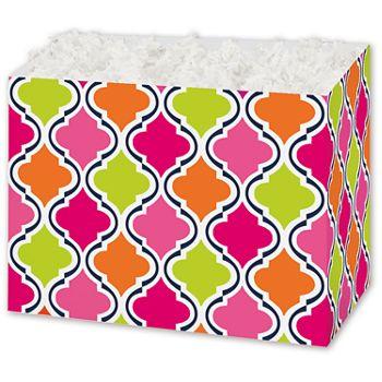 Modern Moroccan Gift Basket Boxes, 6 3/4 x 4 x 5
