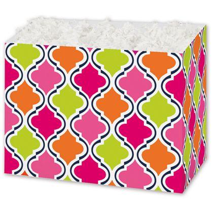 """Modern Moroccan Gift Basket Boxes, 6 3/4 x 4 x 5"""""""