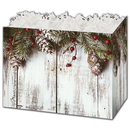 Rustic Gift Basket Boxes, 6 3/4 x 4 x 5""