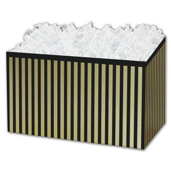 Pinstripe Gift Basket Boxes, 6 3/4 x 4 x 5
