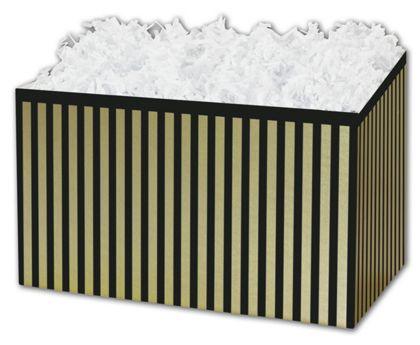 """Pinstripe Gift Basket Boxes, 6 3/4 x 4 x 5"""""""