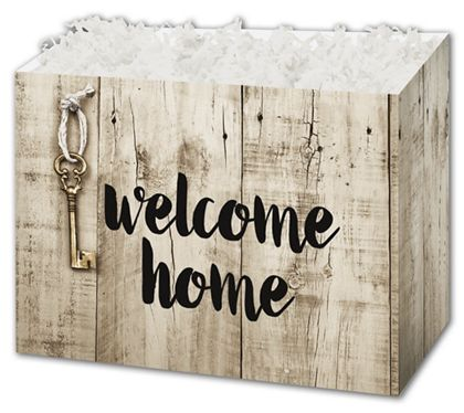 Rustic Welcome Home Gift Basket Boxes, 6 3/4 x 4 x 5""