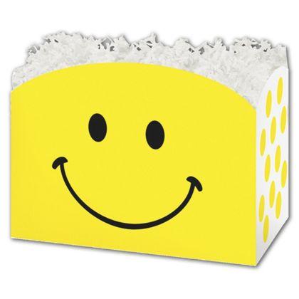 "Smiley Gift Basket Boxes, 6 3/4 x 4 x 5"""