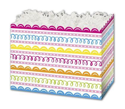 "Sweet Swirls Gift Basket Boxes, 6 3/4 x 4 x 5"""