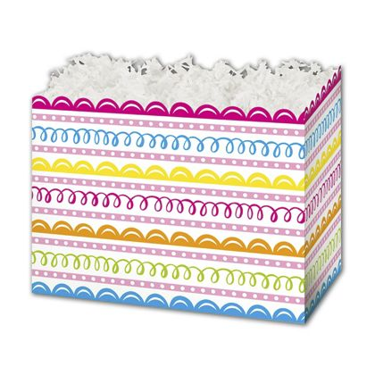 Sweet Swirls Gift Basket Boxes, 6 3/4 x 4 x 5""