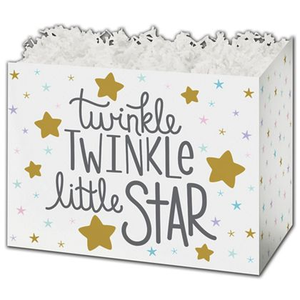 """Twinkle Little Star Gift Basket Boxes, 6 3/4 x 4 x 5"""""""