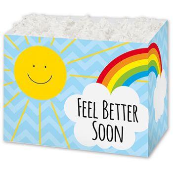 """Feel Better Sunshine Gift Basket Boxes, 6 3/4 x 4 x 5"""""""