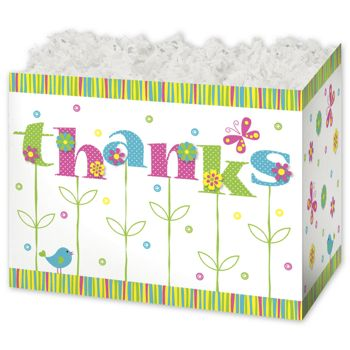 Thanks In Bloom Gift Basket Boxes, 6 3/4 x 4 x 5