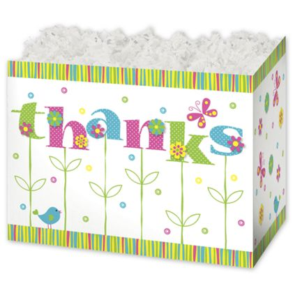 Thanks In Bloom Gift Basket Boxes, 6 3/4 x 4 x 5""
