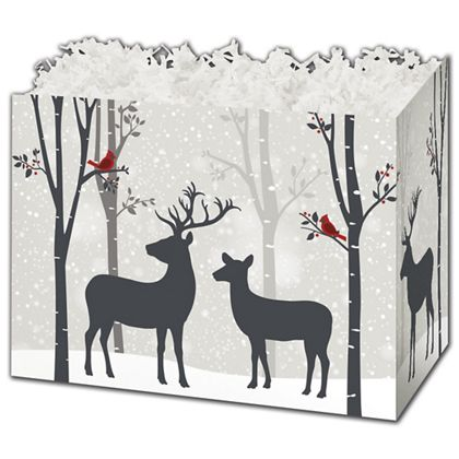 Woodland Deer Gift Basket Boxes, 6 3/4 x 4 x 5""