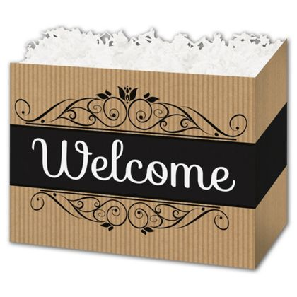 Welcome Gift Basket Boxes, 6 3/4 x 4 x 5""