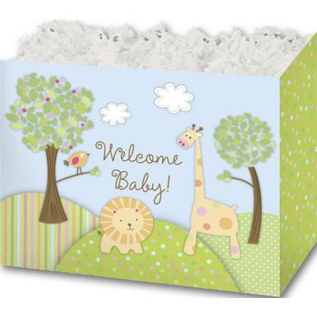 Welcome Baby Gift Basket Boxes, 6 3/4 x 4 x 5