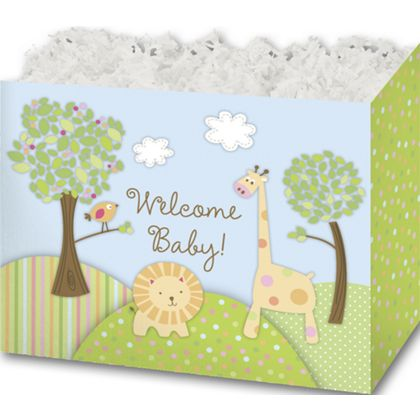Welcome Baby Gift Basket Boxes, 6 3/4 x 4 x 5""