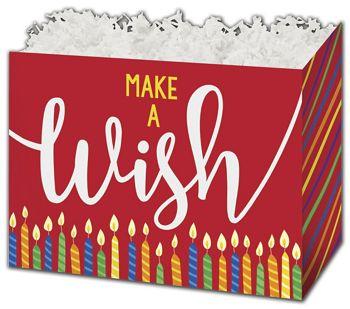 Make a Wish Candles Gift Basket Boxes, 6 3/4 x 4 x 5