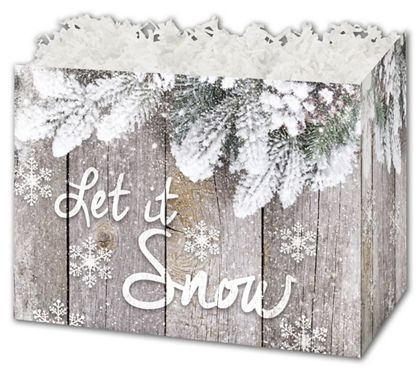 """Rustic Pine Gift Basket Boxes, 6 3/4 x 4 x 5"""""""