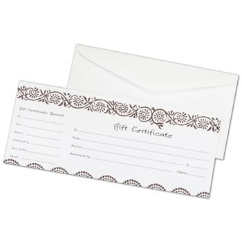 Darjeeling Gift Certificates, 3 3/4 x 9 1/4