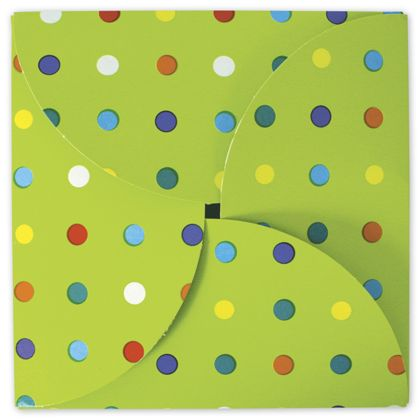Party Dots Gift Card Folders, 6 x 6""