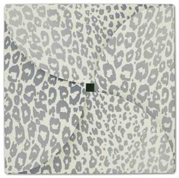Silver Cheetah Gift Card Folders, 6 x 6