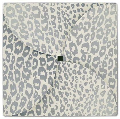 "Silver Cheetah Gift Card Folders, 6 x 6"""