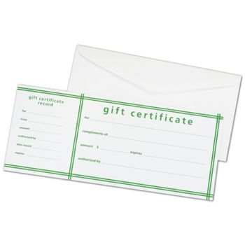 Green Stripe Picnic Stripe Gift Certificates