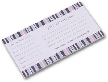 Kate Stripe Gift Certificates, 9 1/4 x 3 3/4