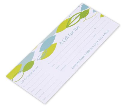 "Leaf Stream Gift Certificates, 9 1/4 x 3 3/4"""