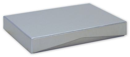 Silver Pop-Up Gift Card Boxes, 4 5/8 x 3 3/8 x 5/8""