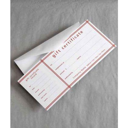 "Red Stripe Picnic Stripe Gift Certificates, 3 3/4 x 9 1/4"""