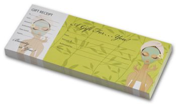 Spa Girl Gift Certificates w/ Envelopes, 9 1/4 x 3 3/4