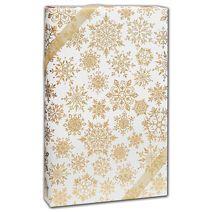 """Sparkleflake Gold White Gift Wrap, 24"""" x 417'"""