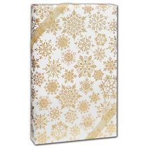 """Sparkleflake Gold White Gift Wrap, 24"""" x 208'"""