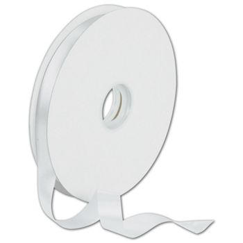 Dyna White Satin Ribbon, 5/8
