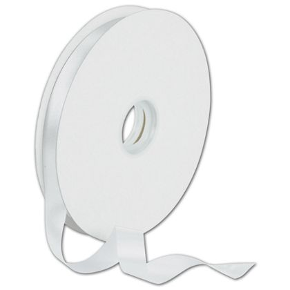 "Dyna White Satin Ribbon, 5/8"" x 100 Yds"