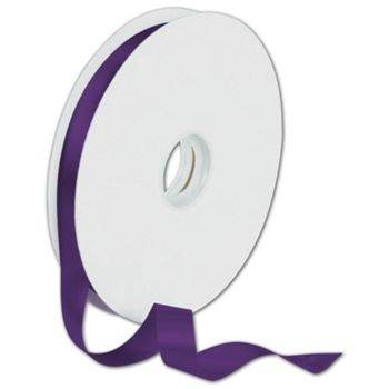 Dyna Purple Satin Ribbon, 5/8