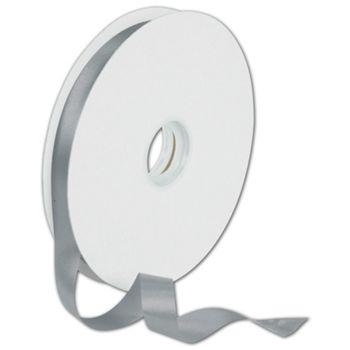Dyna Silver Satin Ribbon, 5/8