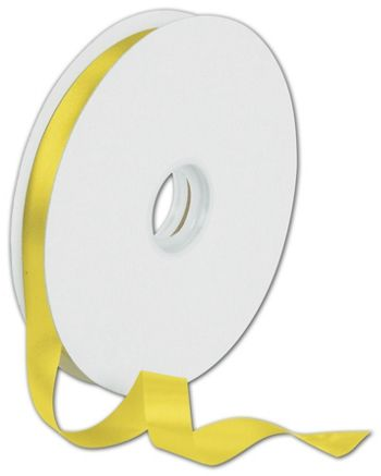 Dyna Yellow Satin Ribbon, 5/8