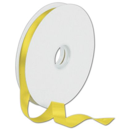 "Dyna Yellow Satin Ribbon, 5/8"" x 100 Yds"