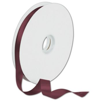 Dyna Burgundy Satin Ribbon, 5/8