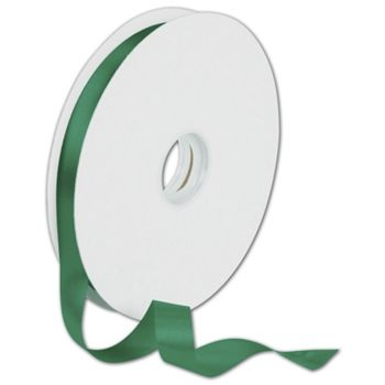 Dyna Holiday Green Satin Ribbon, 5/8