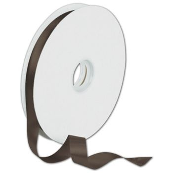Dyna Chocolate Satin Ribbon, 5/8
