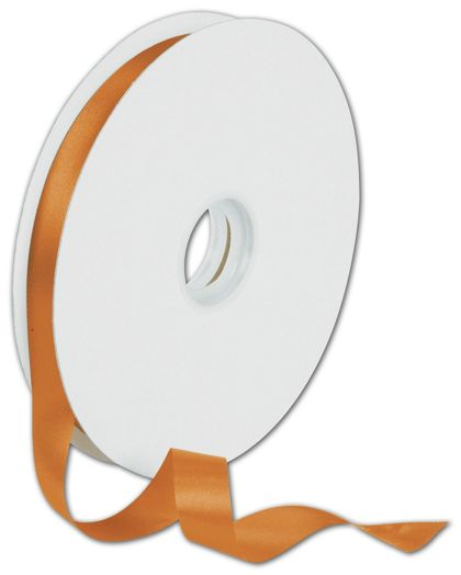 "Dyna Tangerine Satin Ribbon, 5/8"" x 100 Yds"