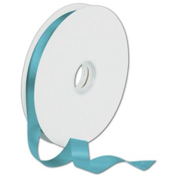 Dyna Turquoise Satin Ribbon, 5/8