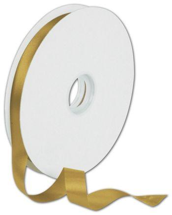 Dyna Antique Gold Satin Ribbon, 5/8