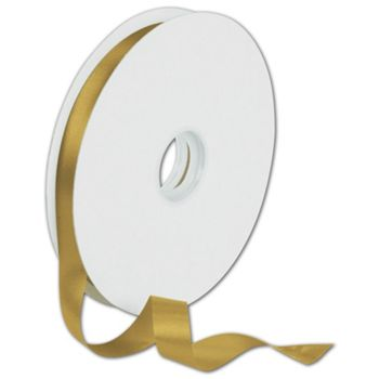 Dyna Antique Gold Satin Ribbon, 5/8