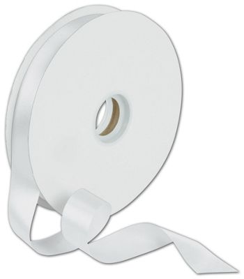 Dyna White Satin Ribbon, 7/8