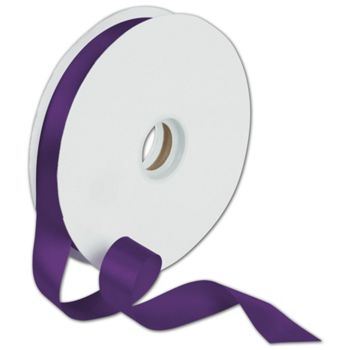Dyna Purple Satin Ribbon, 7/8