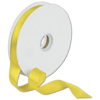 Dyna Yellow Satin Ribbon, 7/8