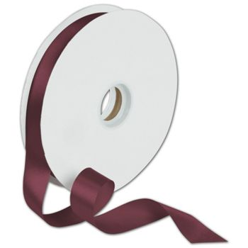 Dyna Burgundy Satin Ribbon, 7/8